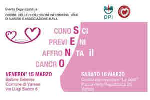 Varese: Conosci, previeni, affronta il cancro al seno