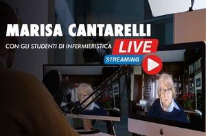 Marisa Cantarelli a confronto con gli studenti infermieri