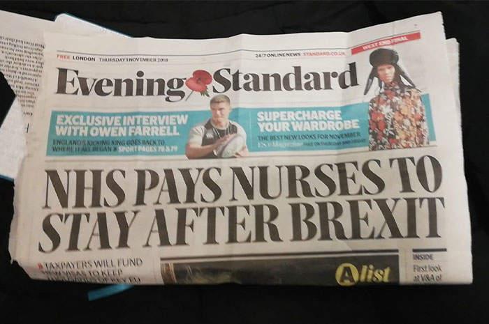 NHS pagherà gli infermieri per restare dopo la brexit