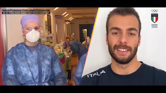 I campioni olimpici italiani ringraziano medici e infermieri