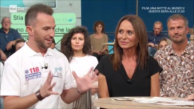 Infermiere Luca Cardillo ospite a i Fatti Vostri