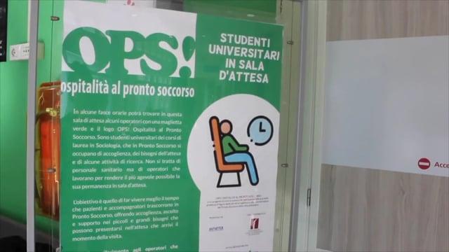 Sant'Orsola, parte progetto Ops!: studenti aiutano pazienti in attesa al PS