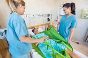 Posizionamento del paziente supino a letto