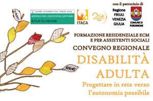 Disabilità adulta, un convegno da 8,5 Ecm