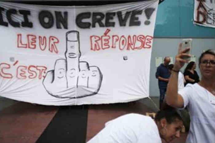 infermieri in sciopero della fame in francia