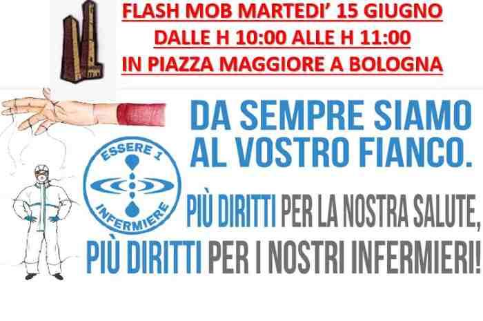 """""""Essere 1 infermiere"""" organizza flash-mob di protesta"""