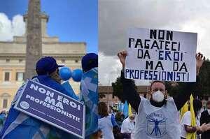 Gli infermieri marciano su Roma, ma che fatica