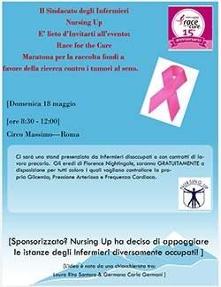 Infermieri dissoccupati del Lazio alla Race for the cure