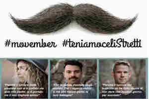 Movember tutto l'anno: prevenzione e sensibilizzazione al maschile